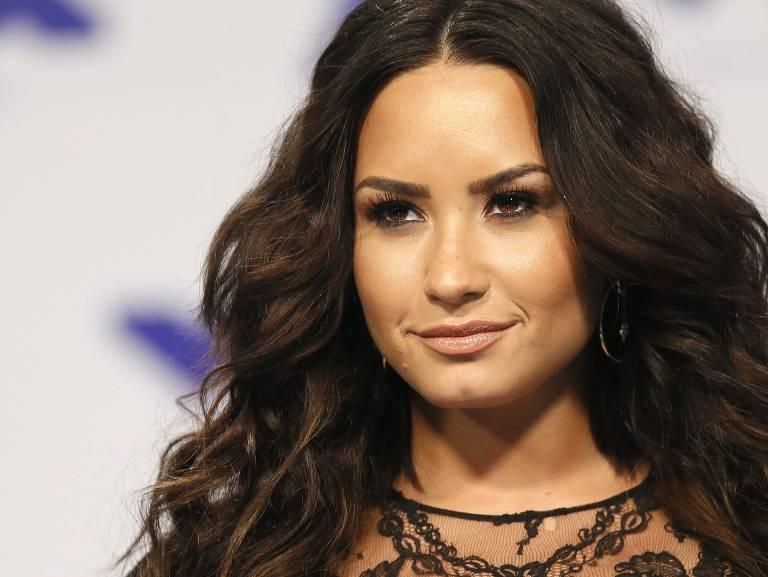 Demi Lovato, durante MTV Video Music Awards, em 2017