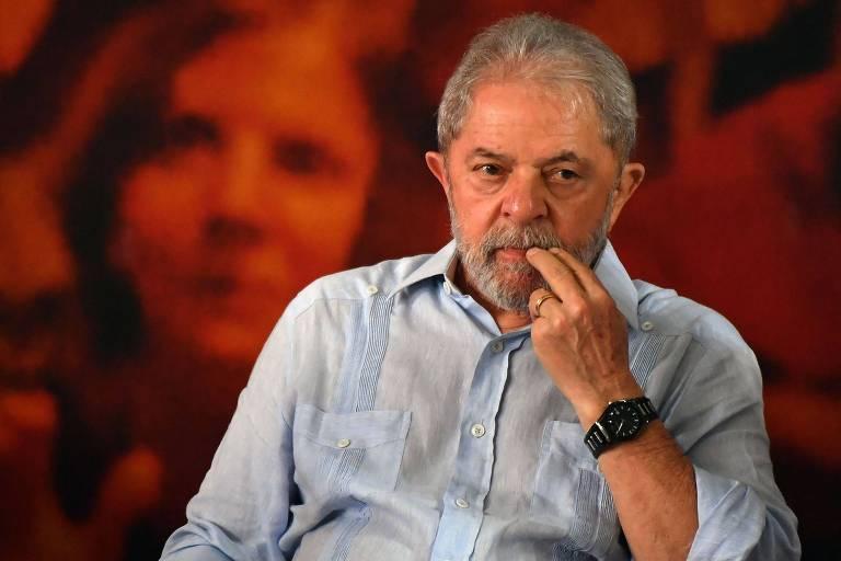 Ex-presidente Luiz Inácio Lula da Silva, que teve a prisão suspensa até o julgamento do habeas corpus