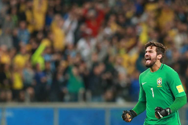 Alisson durante jogo pela seleção brasileira - Edison Vara Reuters c6ab3513e0b8c