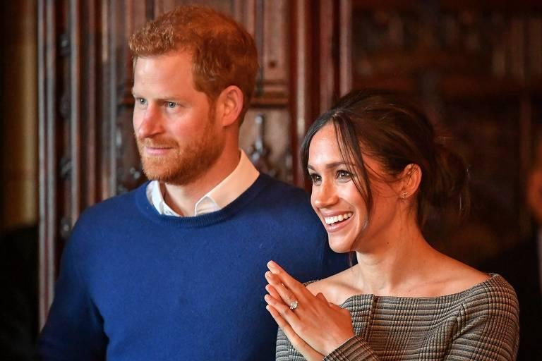 Príncipe Harry com a atriz Meghan Markle
