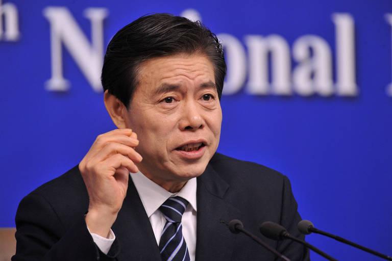 O ministro chinês do comércio Zhong Shan