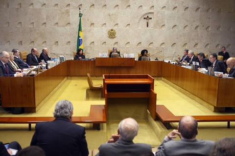 BRASILIA , DF , 22.03.2018 , BRASIL , Sessão plenária do Supremo Tribunal Federal . Foto: Carlos Moura / STF DIREITOS RESERVADOS. NÃO PUBLICAR SEM AUTORIZAÇÃO DO DETENTOR DOS DIREITOS AUTORAIS E DE IMAGEM