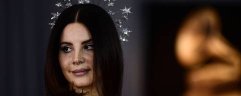 Lana Del Rey arrives for the 60th Grammy Awards on January 28, 2018, in New York.  / AFP PHOTO / Jewel SAMAD
