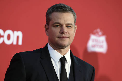 FILE - In this Oct. 22, 2017, file photo, Matt Damon arrives at a movie premier in Los Angeles. A publicist for Damon is batting down reports that the actor is moving to Australia with his family because he disagrees with President Donald Trump's policies. (Photo by Jordan Strauss/Invision/AP, File) ORG XMIT: NYSB506