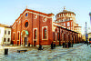 Fachada da igreja de Santa Maria Delle Grazie, onde está a Santa Ceia,de Leonardo da Vinci