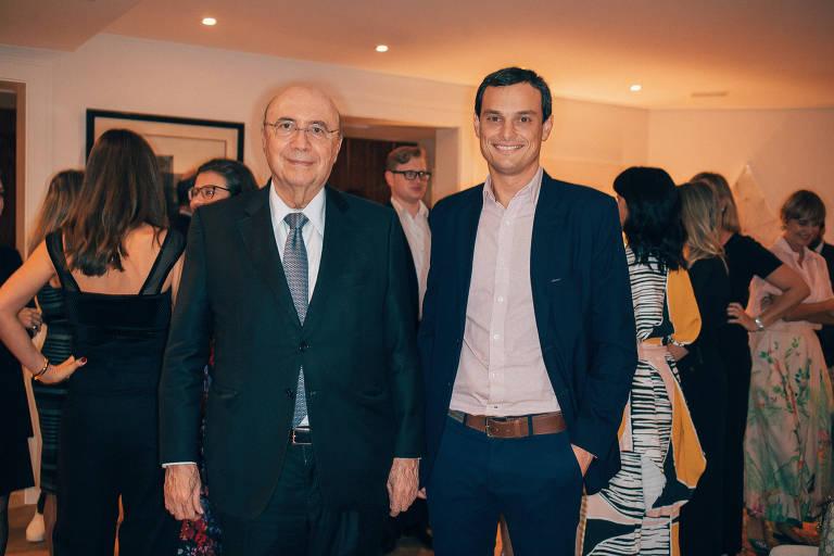 O ministro da Fazenda, Henrique Meirelles, e o presidente da Associação Brasileira de Estilistas (Abest), Paulo Lourenço Bartholomei