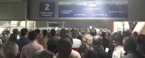 Servidores de São Paulo protestam contra reforma da previdência