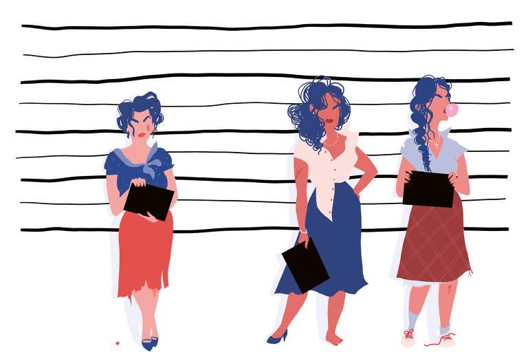 Ilustração de 'Ousadas - Mulheres  que Só Fazem o que Querem', de Pénélope Bagiou, que  sai pela Autêntica com tradução de Fernando Scheibe