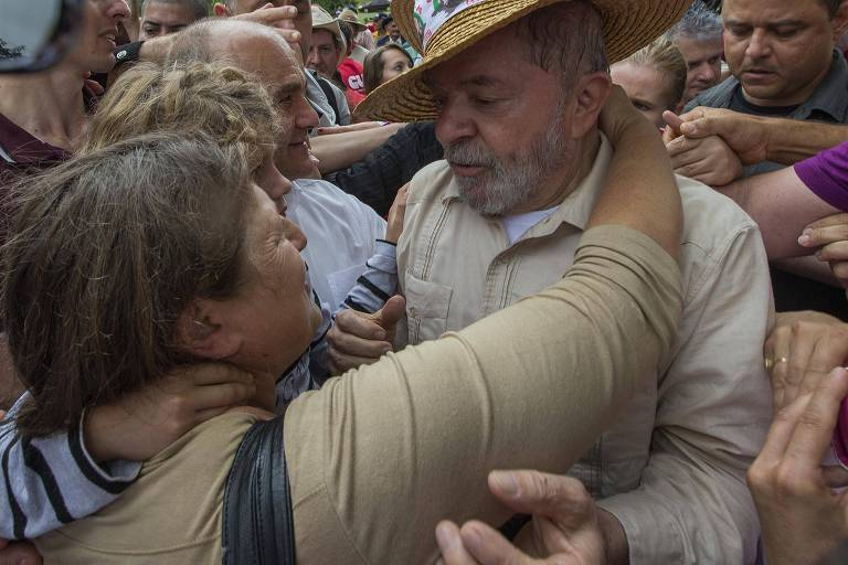 Ex-presidente Lula visita propriedade rural de agricultores familiares nesta sexta (23) em Ronda Alta, no RS