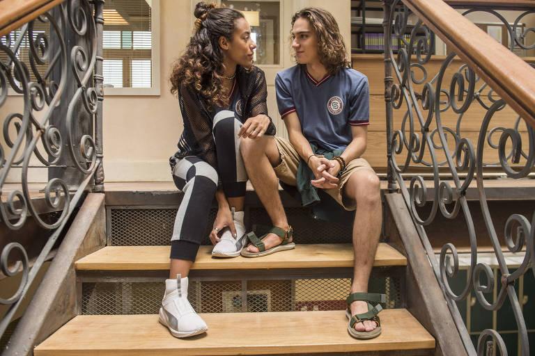 Jade ( Yara Charry ) e Tito ( Tom Karabachian )