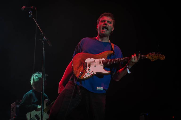 Show da banda Mac DeMarco, no palco Axe, no primeiro dia do festival Lollapalooza, no autódromo de Interlagos em São Paulo