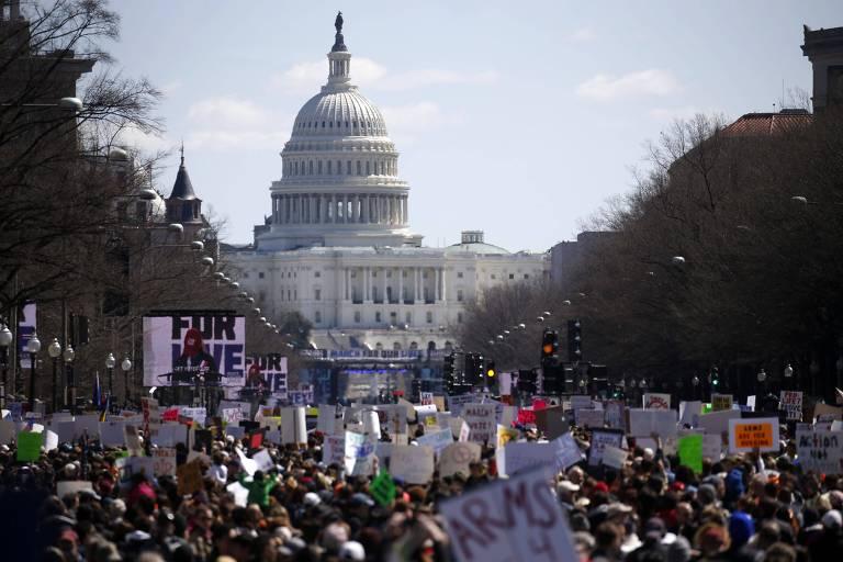 Marcha pelo controle de armas nos EUA