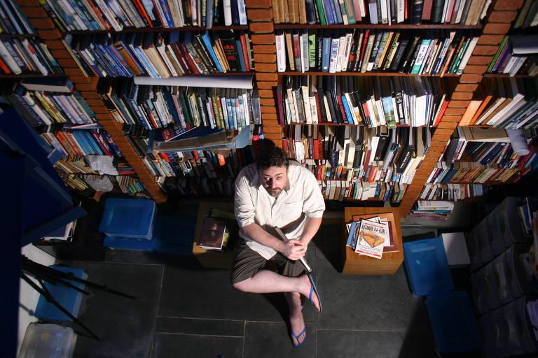 Ricardo Bonalume em sua casa na Vila Madalena, São Paulo