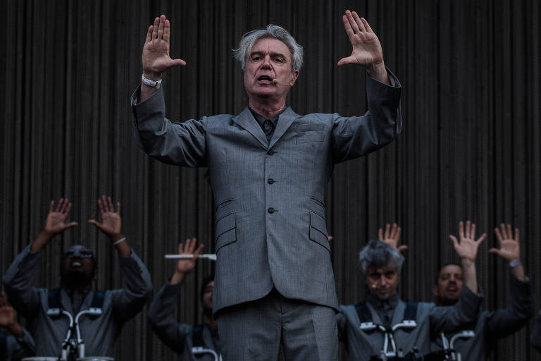 Show do cantor David Byrne, no palco Onix, no segundo dia do festival Lollapalooza