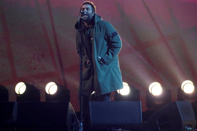Liam Gallagher, que cantaneste domingo (25), ainda tem talento e energia