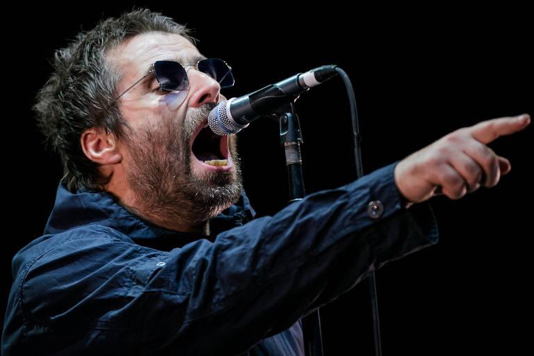 Liam Gallagher se apresenta no palco principal do autódromo de Interlagos