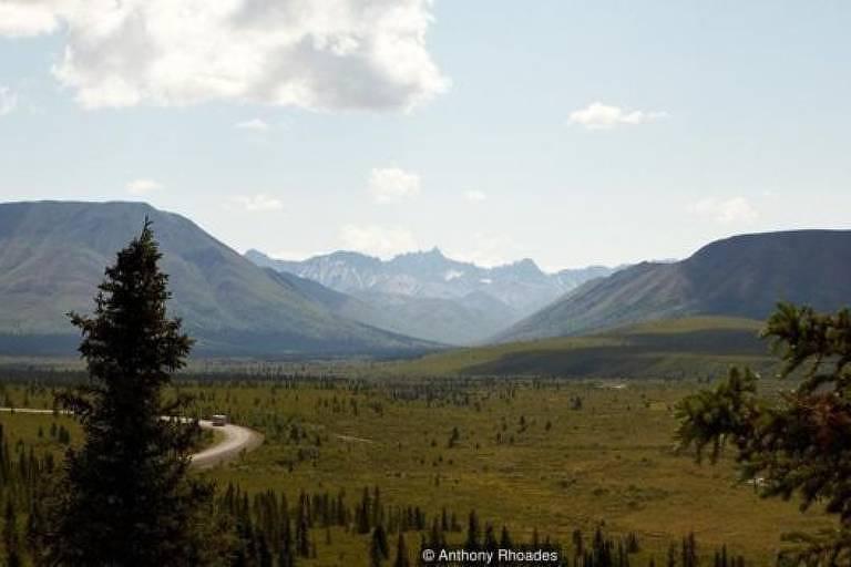 Horizonte do Parque Nacional Denali