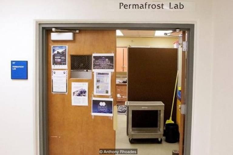 Entrada do laboratório permafrost