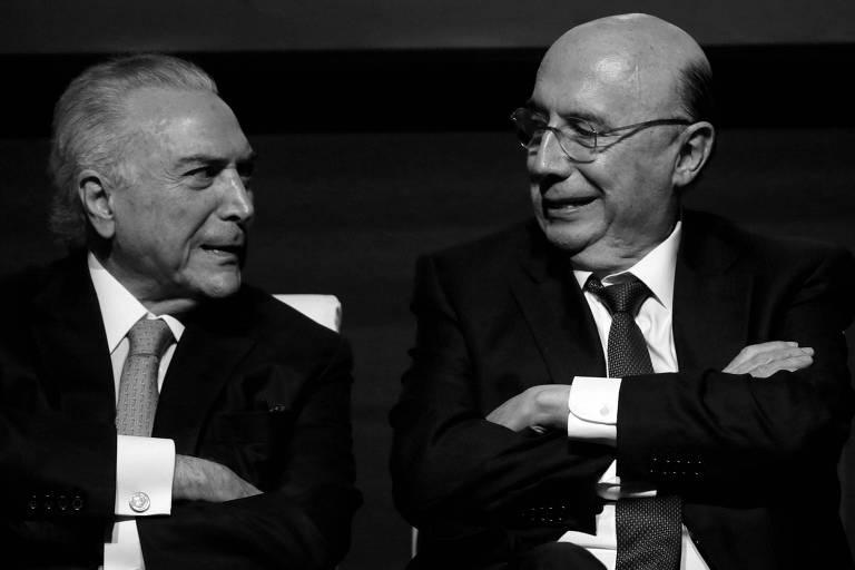 Michel Temer e Henrique Meirelles, em evento da Caixa Econômica Federal, em Brasília, em fevereiro deste ano