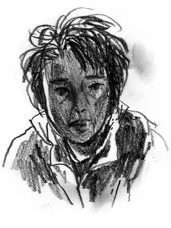 Desenho reproduz rosto de Choi, mulher de 63 anos que pagou para tirar a irmã da Coreia do Norte pela fronteira com a China