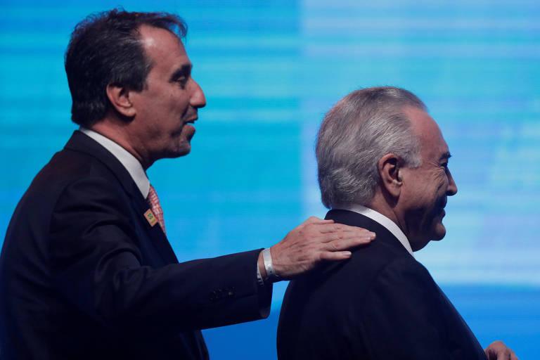 Presidente da Caixa, Gilberto Occhi, e presidente Michel Temer em Brasília