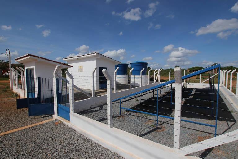 Comunidade rural Maria da Paz, em João Câmara (RN), que usa sistema de dessanilização alimentado por energia solar