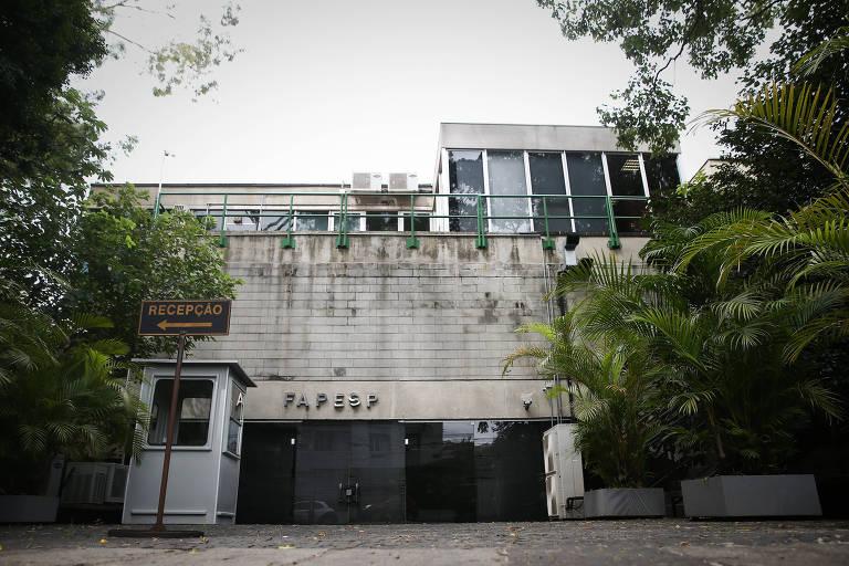 Fachada do prédio da Fapesp (Fundação de Amparo à Pesquisa do Estado de São Paulo) em São Paulo.