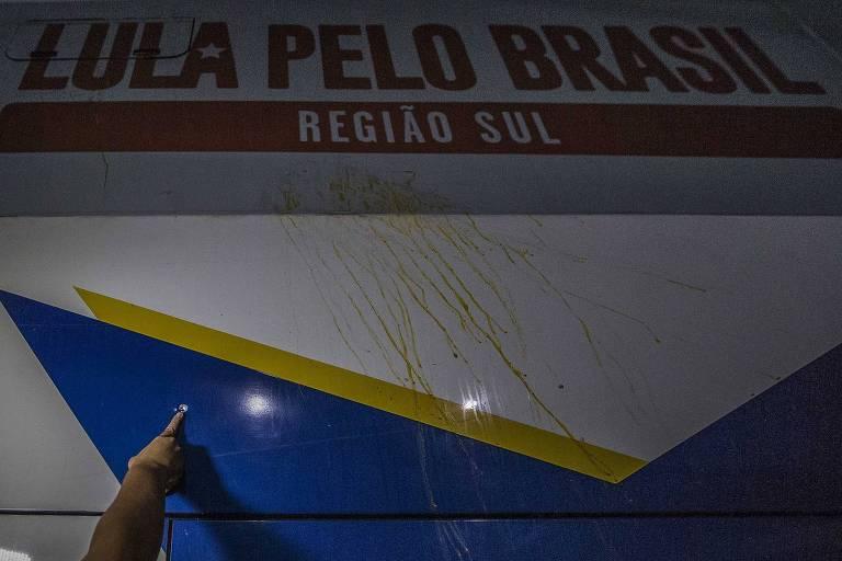 Ataque à caravana de Lula no Paraná