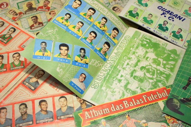 Álbum de figurinhas de 1958, da coleção Balas Futebol