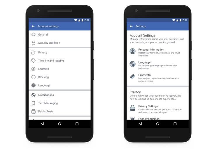 """Novo """"Atalhos de Privacidade"""" do Facebook"""