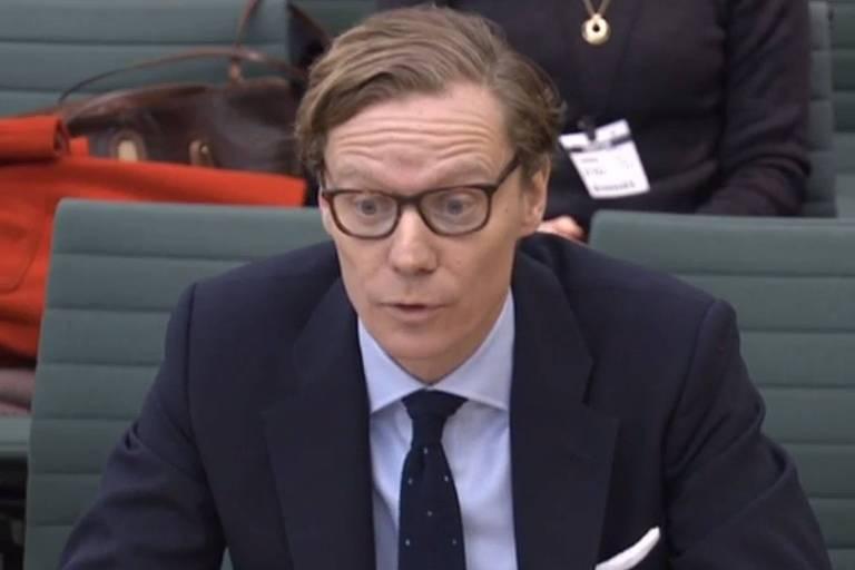 Alexander Nix, da Cambridge Analytica, depõe no Parlamento inglês em fevereiro