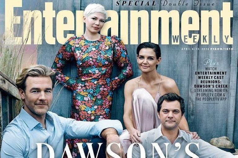 Elenco de Dawson's Creek na capa da Entertainment Weekly
