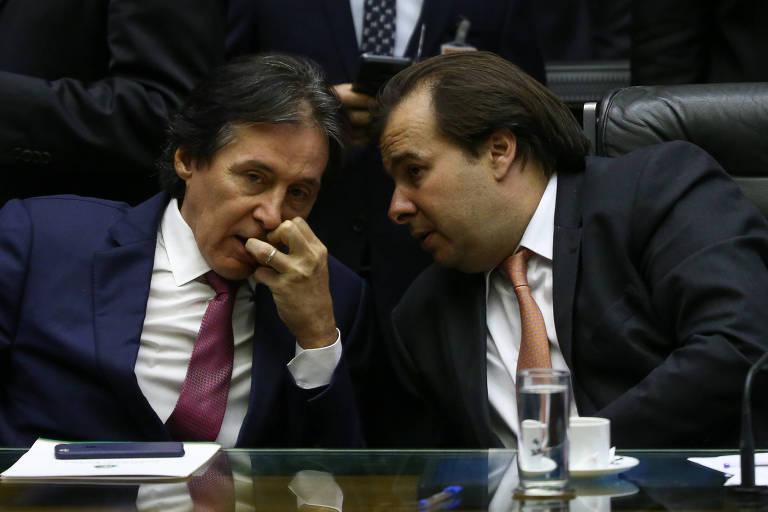 Os presidentes do Senado, Eunício Oliveira (MDB-CE), e da Câmara, Rodrigo Maia (DEM-RJ)