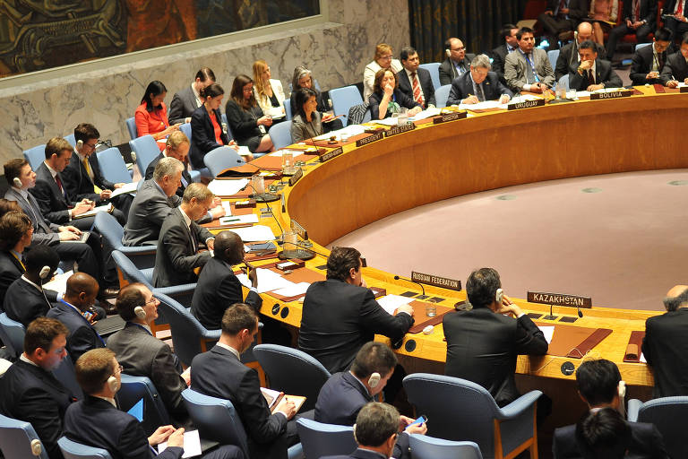 Reunião do Conselho de Segurança da ONU para discutir a situação da Síria em 12 de abril de 2017