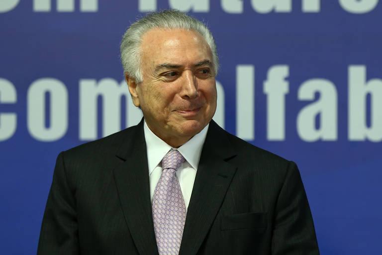 O presidente Michel Temer participa de cerimônia de liberação de recursos para o Programa Mais Alfabetização, no Palácio do Planalto