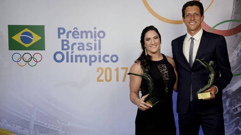 Mayra e Marcelo Melo foram escolhidos os melhores atletas do Prêmio Brasil Olímpico