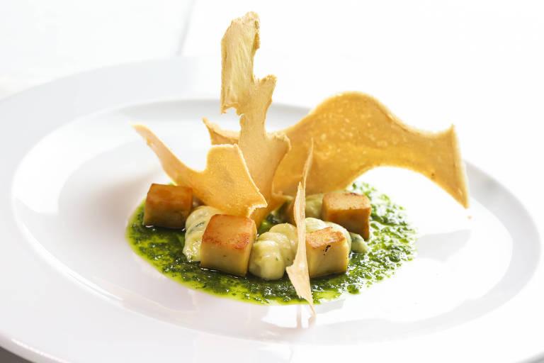 Musse de bacalhau com texturas de grão-de-bico é sugestão do Così para a Páscoa