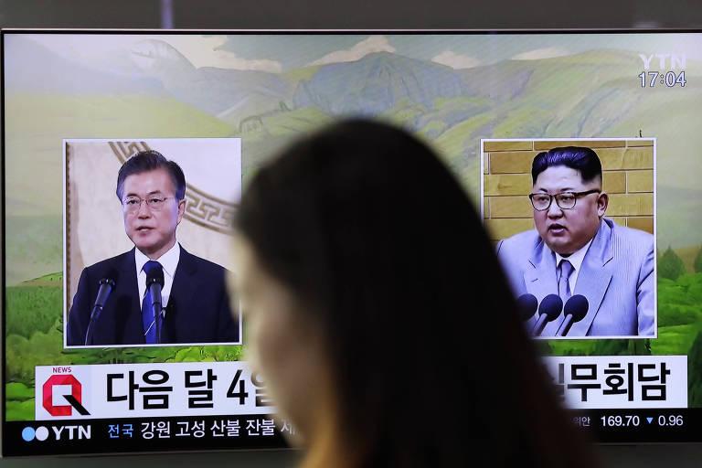 Líderes das duas Coreias reúnem-se no final do mês de abril
