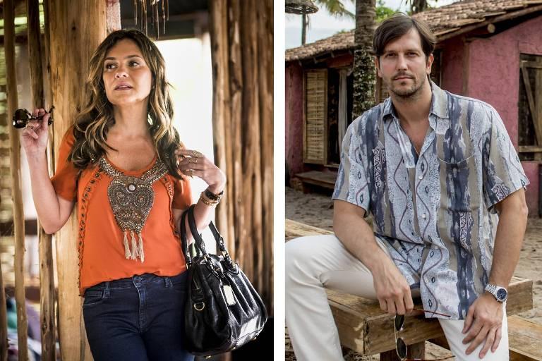 Laureta (Adriana Esteves) e Remy (Vladmir Brichta) em 'Segundo Sol'