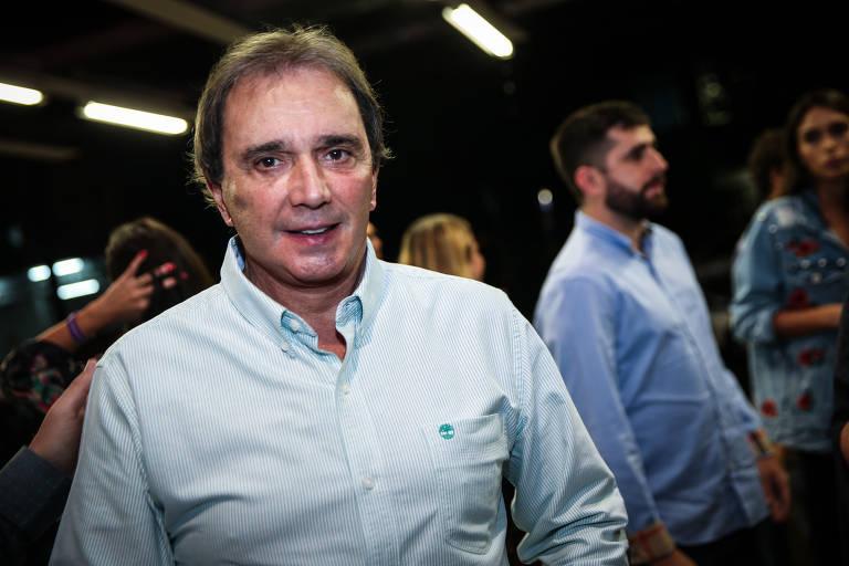 """Reginaldo Leme em sessão para convidados do espetáculo """"Ayrton Senna, o musical"""""""