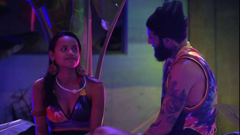 Gleici e Wagner na festa reggae no BBB 18 (Globo)
