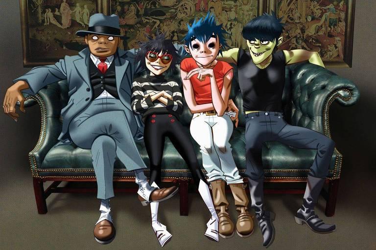 A banda Gorillaz faz show no Jockey Club