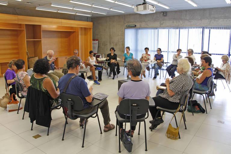 Clube de leitura no Sesc Vila Mariana