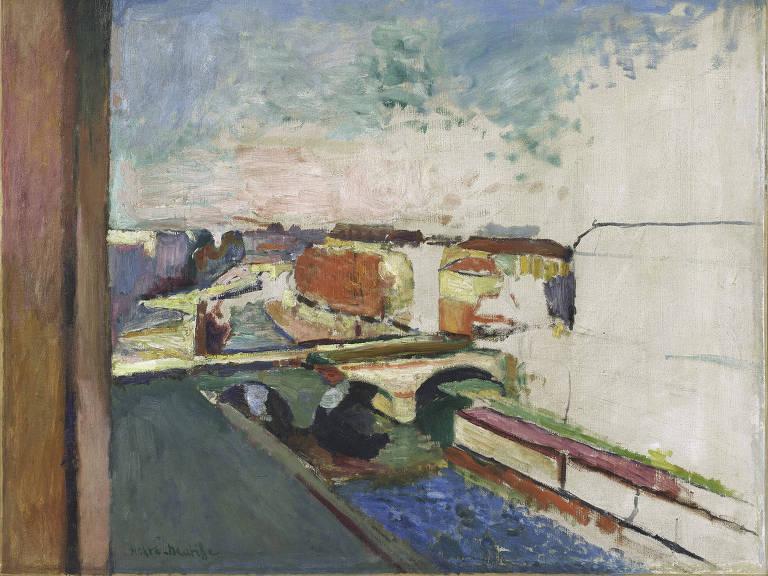 """""""Ponte Saint-Michel"""", de Henri Matisse, pintura exposta na mostra """"Alucinações Parciais"""", no Tomie Ohtake"""