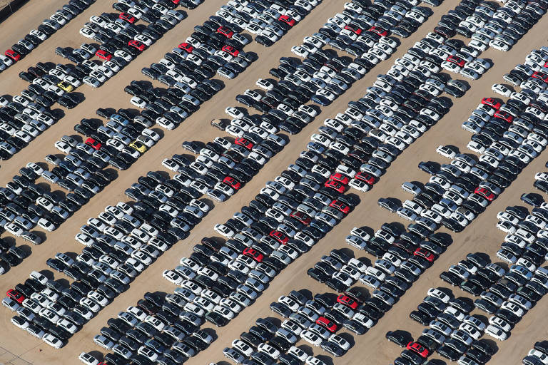 Pátio da Volkswagen e da Audi após Dieselgate