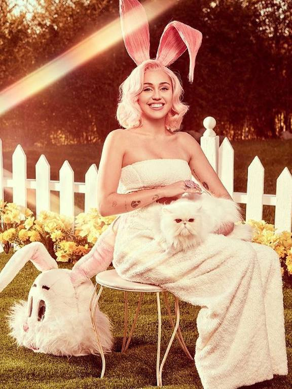 Miley Cyrus faz ensaio de páscoa