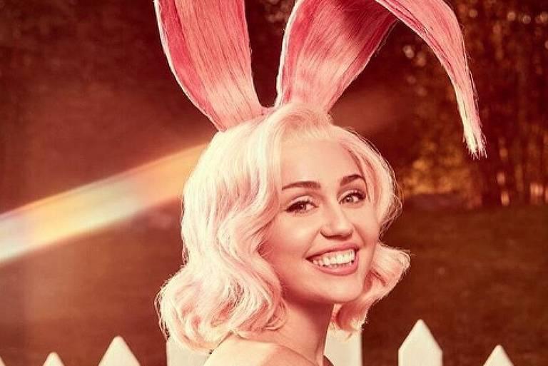 Miley Cyrus faz ensaio de páscoa e divulga nas redes sociais