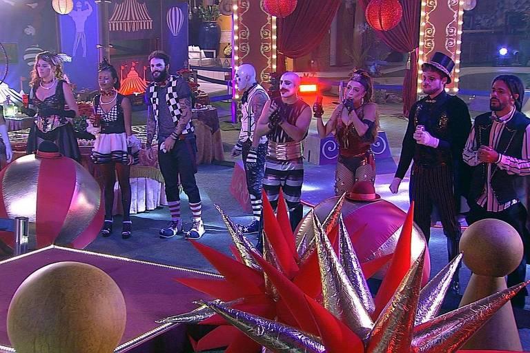 Festa circo no BBB 18 (Globo)