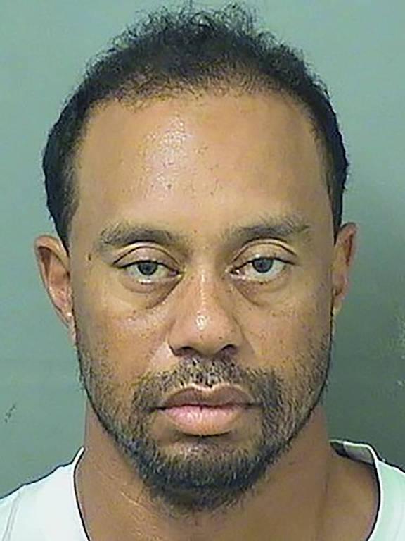Tiger Woods após ser preso por dirigir embriagado, em maio de 2017