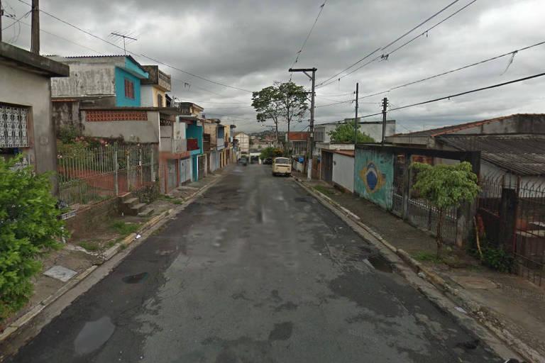 Rua onde ocorreu crime em Osasco